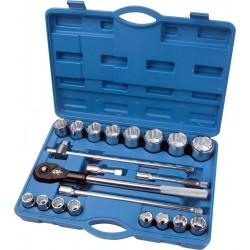 Zestaw narzędziowy 3/4 cala 12 kątne nasadki 19-50 mm