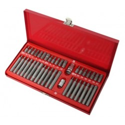 Zestaw bitów 40 szt spline, torx, imbus na klucz 10 mm 1/2 cala