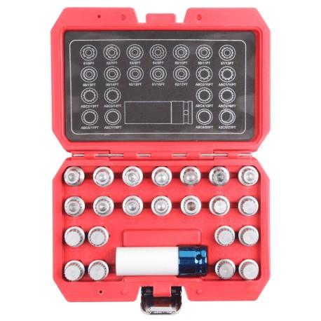 Zestaw kluczy do śrub kół zabezpieczających 23 elem VAG