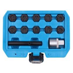 Zestaw kluczy do śrub kół zabezpieczających 12 elem MERCEDES