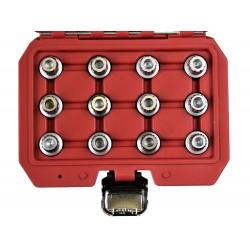Zestaw kluczy do śrub kół zabezpieczających 10 elem VAG