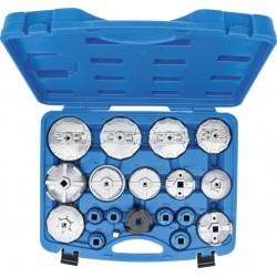 Zestaw nasadek do filtrów aluminiowe 19 elementów